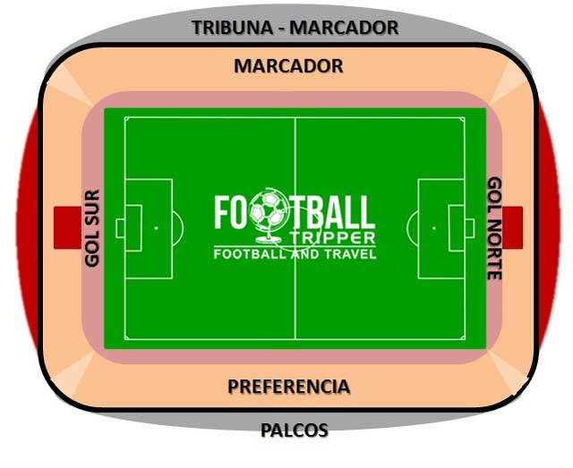 Estadio Carlos Belmonte map