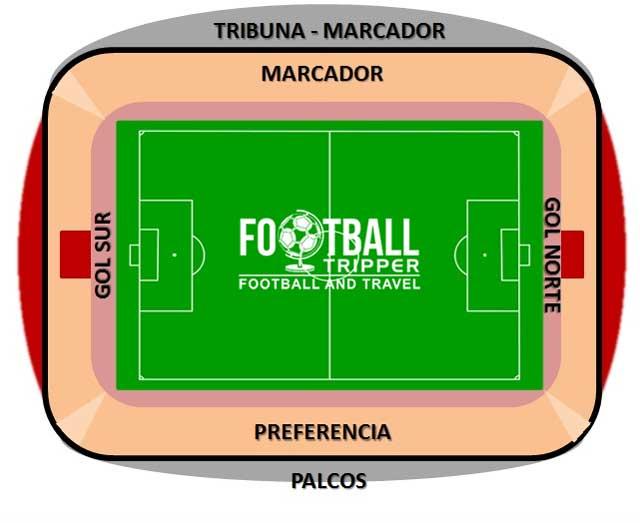 Estadio Carlos Belmonte map
