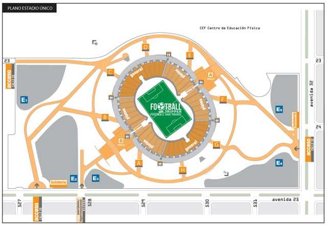 Estadio Ciudad de La Plata map