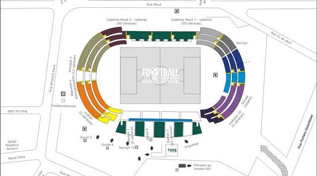 Map of Estádio Couto Pereira
