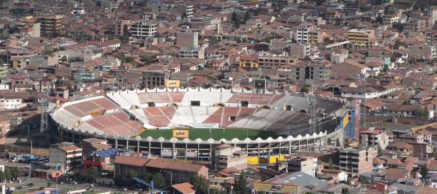 Aerial view of Estadio Garcilaso