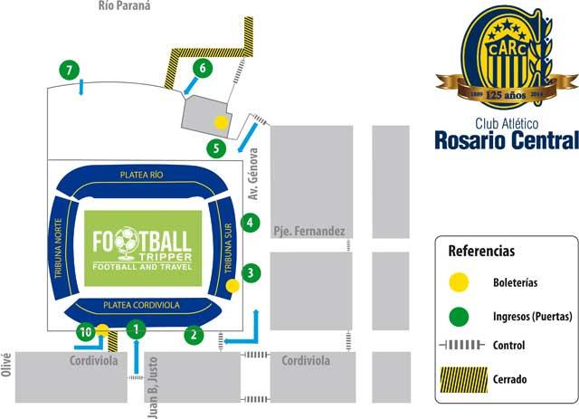 Seating map of Estadio Gigante de Arroyito