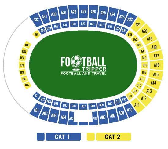 Estadio Gran Canaria seating plan