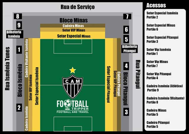 Seating chart for Estadio Independencia
