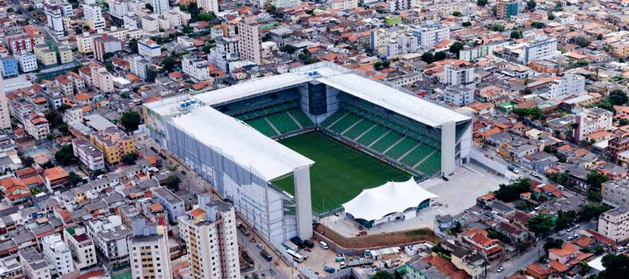 Aerial view of Estadio Independencia