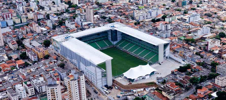 Aerial view of Estadio Independencia