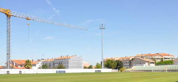 Crane at Joao Cardoso Stadium