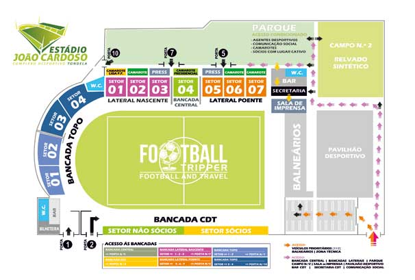 Estadio Joao Cardosa Seating Plan