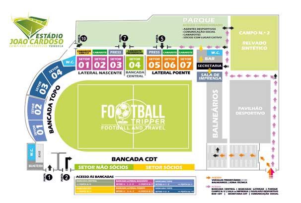 Estadio Joao Cardosa Seating Plan