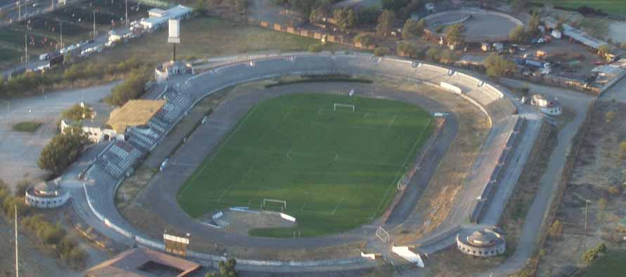Aerial view of Estadio La Cisterna
