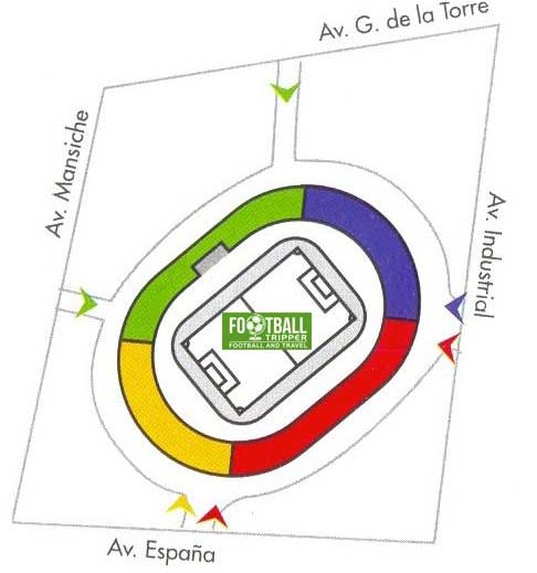 Seating chart for Estadio Mansiche