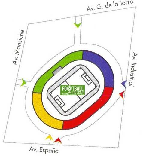 Seating chart for Estadio Mansiche