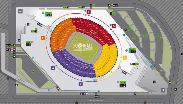 map of Estádio Mineirão