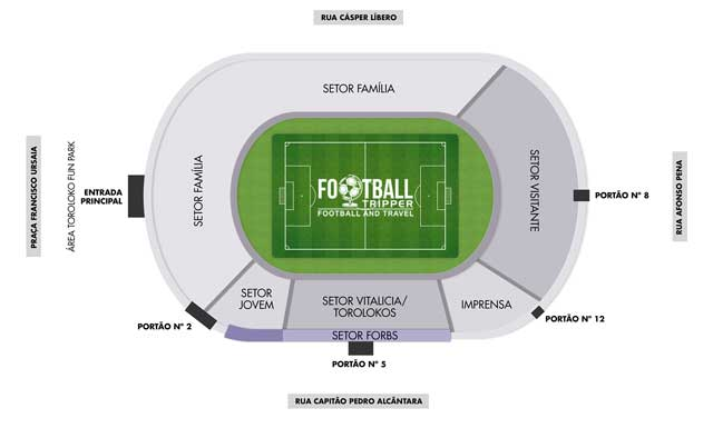 Seating chart for Estádio Moisés Lucarelli