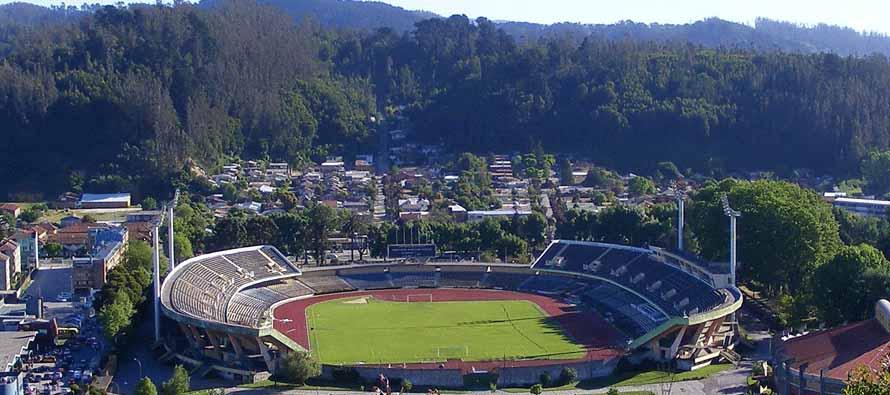 Aerial view of Estadio Municipal De Concepción