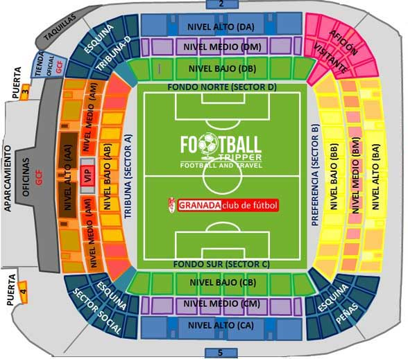 Estadio Los Carmenes Seating Plan