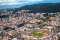 Aerial view of Estadio Olimpico Atahualpa