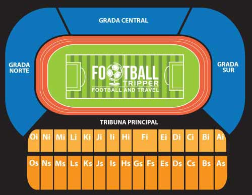 Seating Chart of UCV's Estadio Olimpico