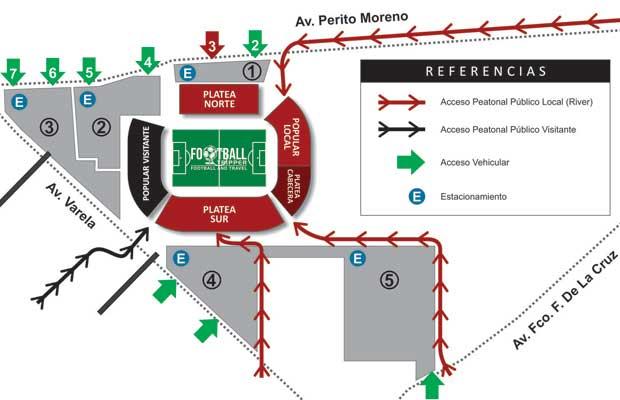 Map of Estadio El Nuevo Gasómetro