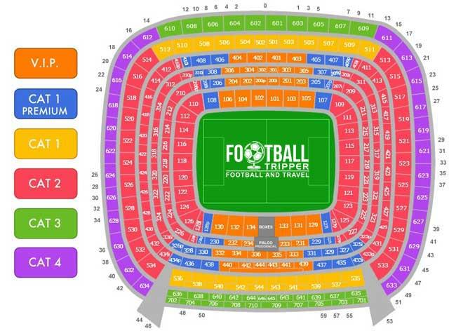 Santiago Bernabeu Stadium Seating Plan