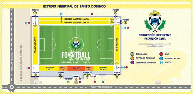Estadio Municipal de Santo Domingo map