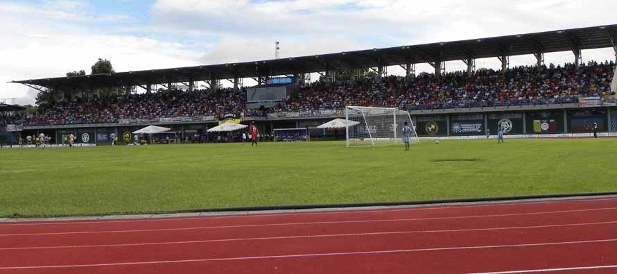 Running track inside Estadio Antonio Jose De Sucre