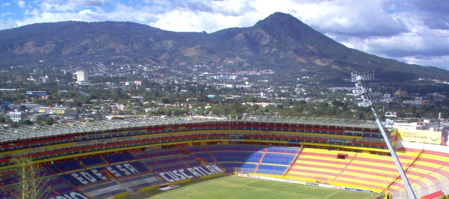 Mountain view of Estadio Cuscatlan