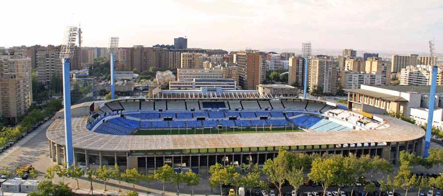 estadio de la romareda aerial view