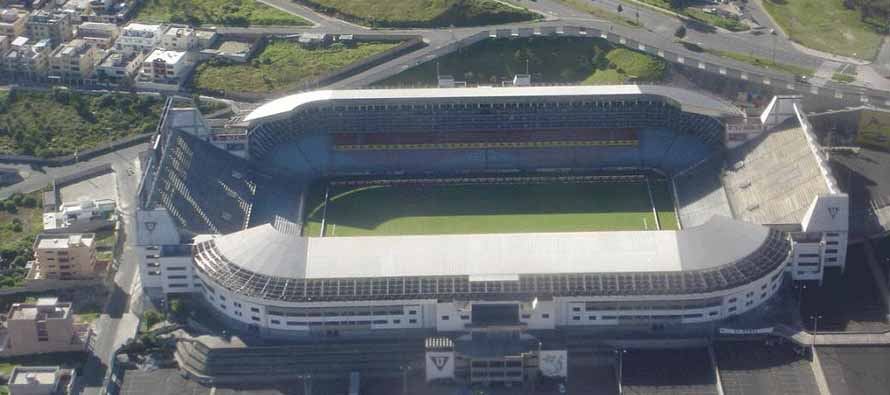 Aerial view of Estadio De Liga Deportiva Universitaria