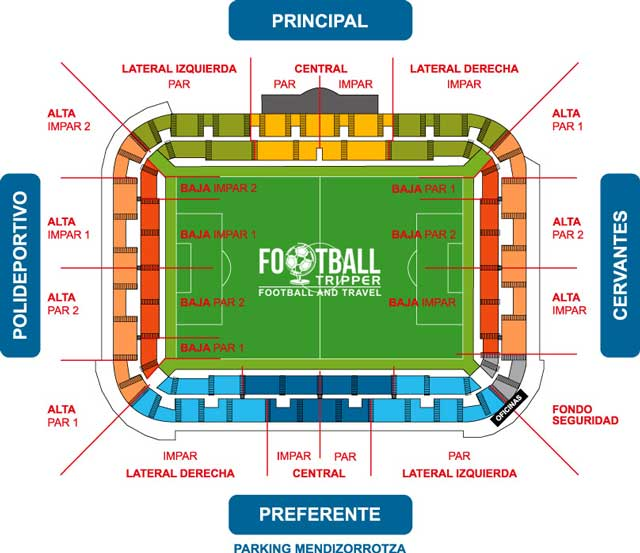 Estadio de Mendizorroza seating chart