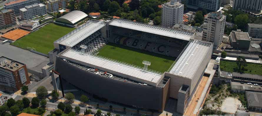 Aerial view of Estadio Do Bessa