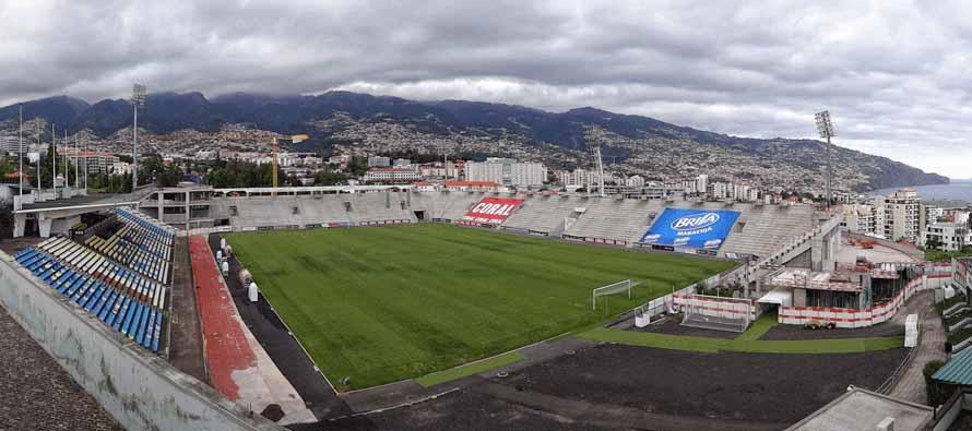 Corner view of Estadio Dos Barreiros