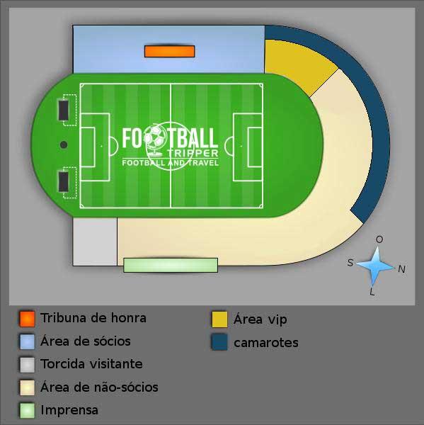 Estádio Vasco da Gama seating chart