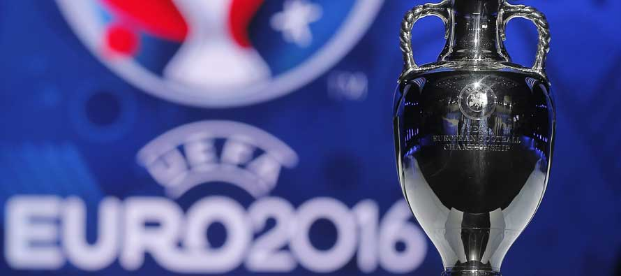 Close up of Euro 2016 trophy