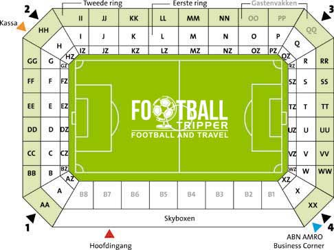 Seating Plan for Groningen FC's stadion