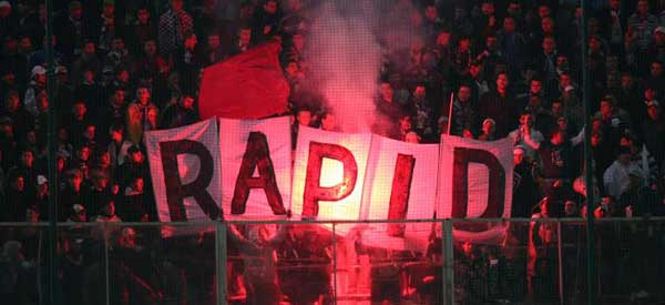 FC Bucuresti Fans at night