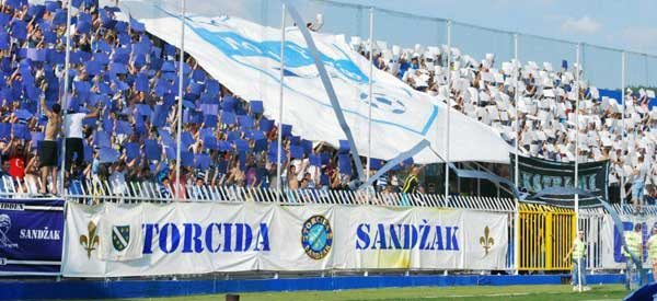 FK Novi Pazar supporters inside the stadium