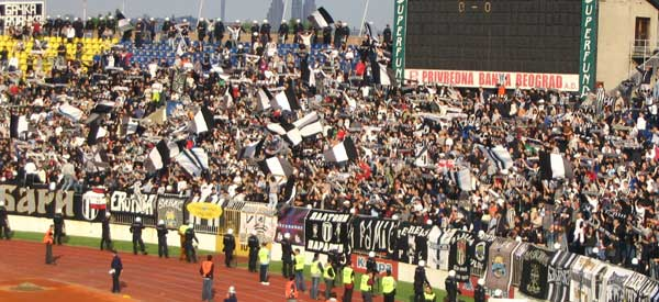 FK Partizan supporters inside the stadium