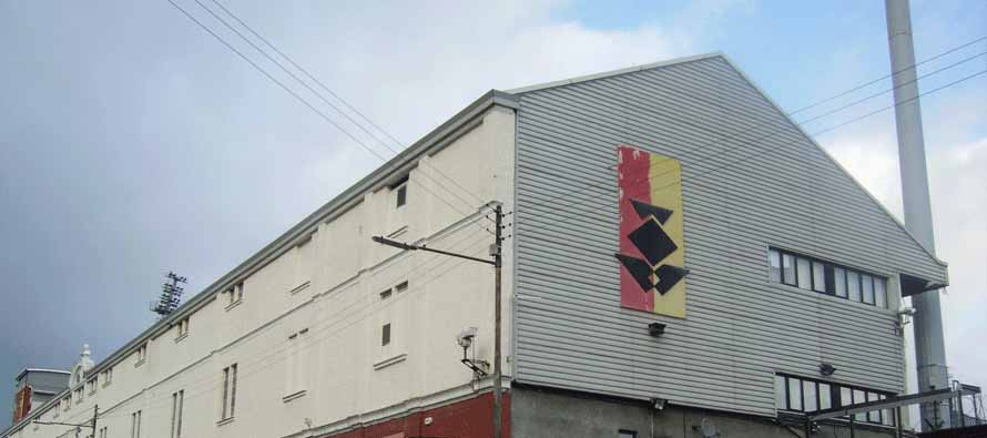 External view of the main stand at Firhill stadium