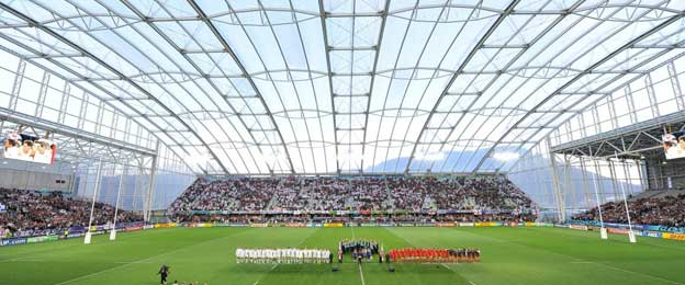 Interior of Forsyth Barr Stadium