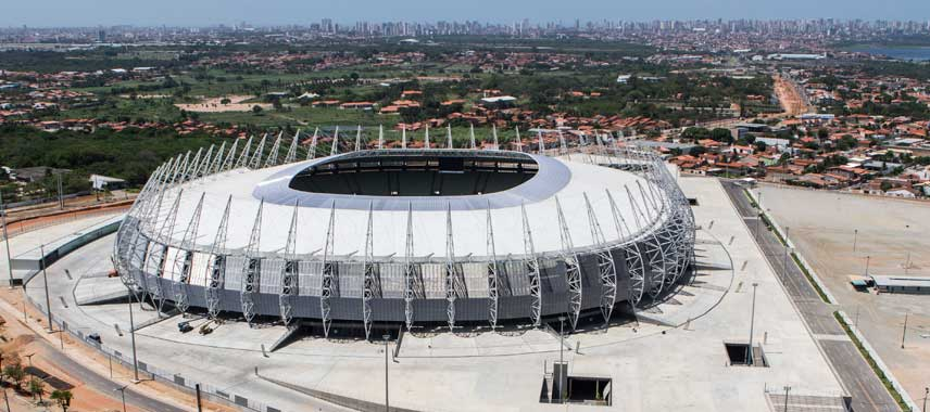 Aerial view of stadio fortaleza
