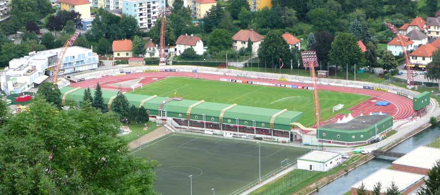 Aerial view of Franz Fekete Stadium