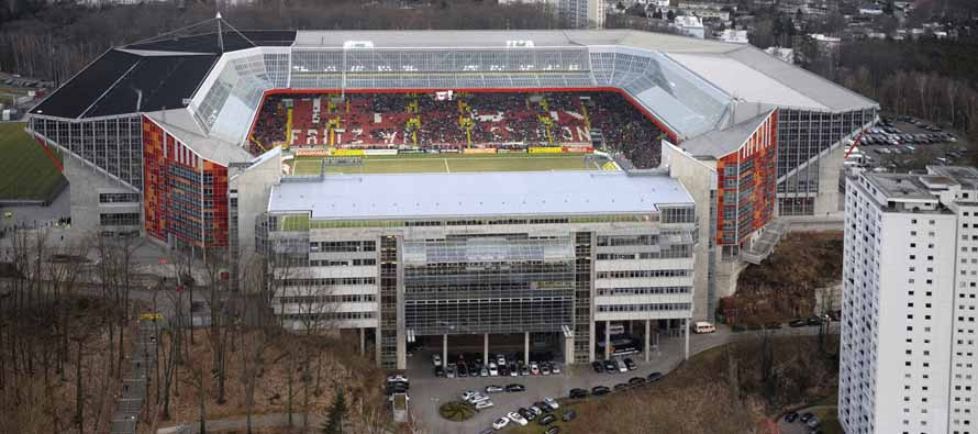 exterior view of fritz walter stadion