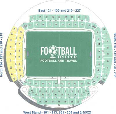 Seating plan for GSP Stadium