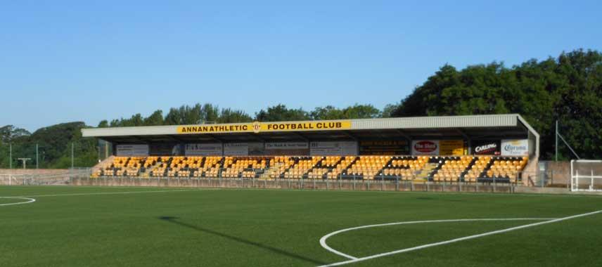 Main stand at Galabank Stadium