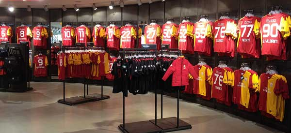 The interior of Galatasaray's club shop