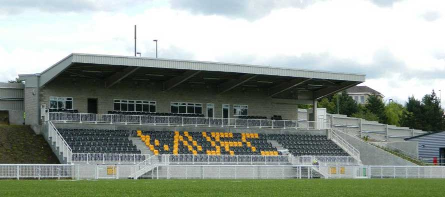 Main stand of Gallagher Stadium