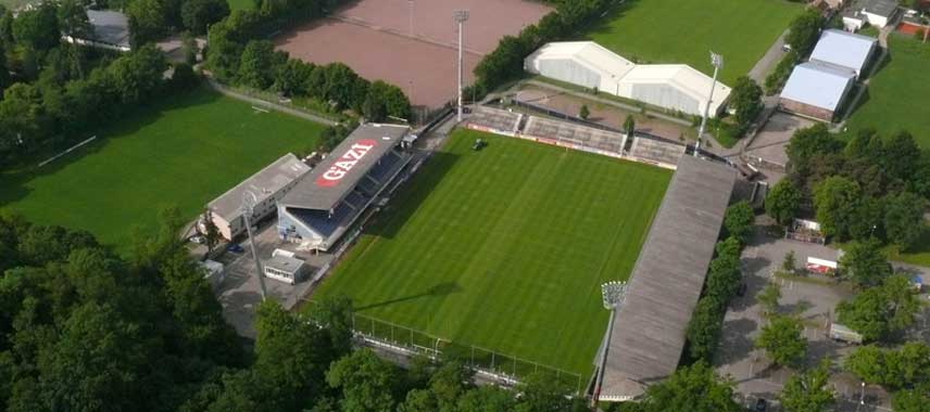 Aerial view of Waldau-Stadion