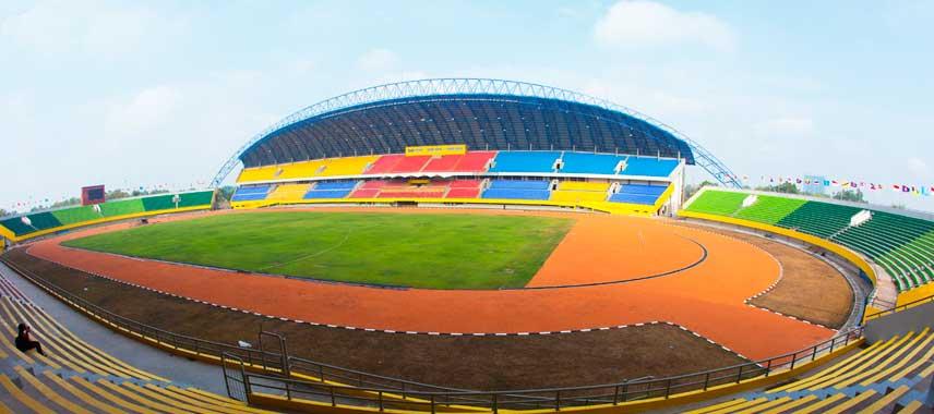 main stand of Gelora Sriwijaya