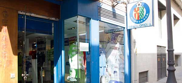 Exterior of Getafe Club Shop